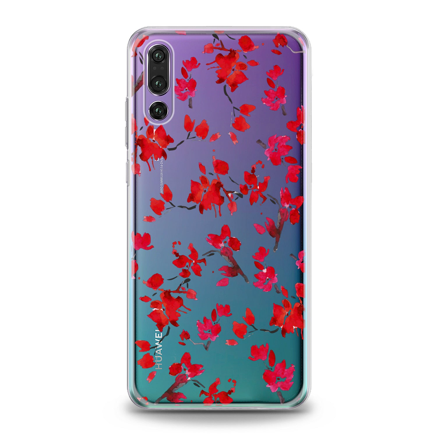 Lex Altern Watercolor Red Blossom Huawei Honor Case