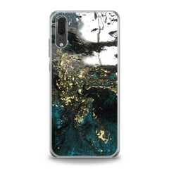 Lex Altern TPU Silicone Huawei Honor Case Green Acrylic Art