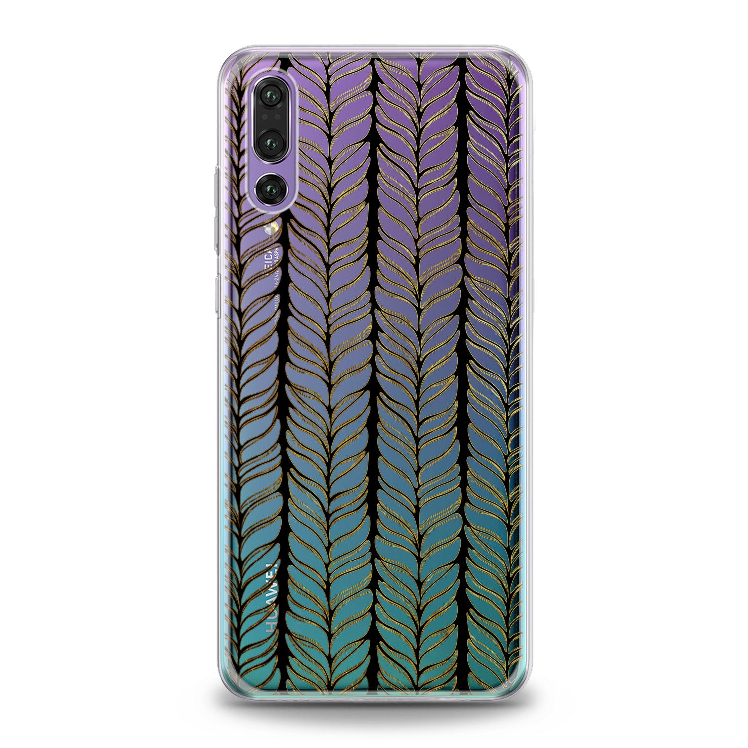 Lex Altern TPU Silicone Huawei Honor Case Abstract Spikelet
