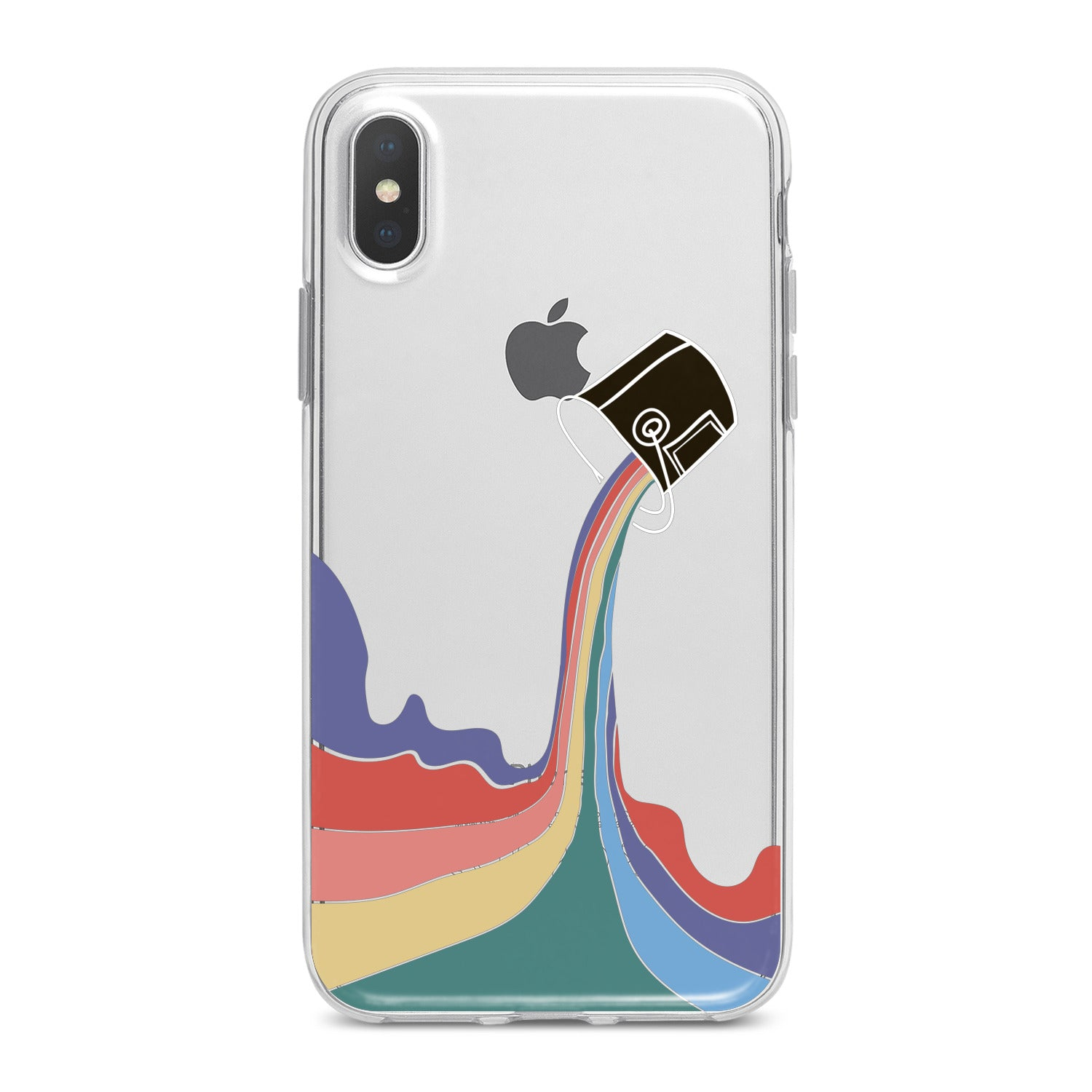 Lex Altern Rainbow Paint Phone Case for your iPhone & Android phone.