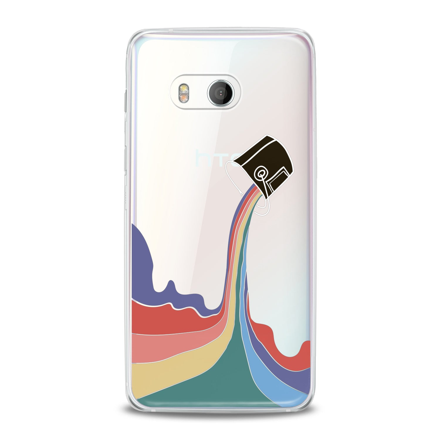 Lex Altern Rainbow Paint HTC Case
