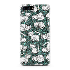 Lex Altern White Drawing Cats Phone Case for your iPhone & Android phone.
