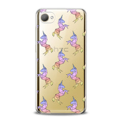 Lex Altern TPU Silicone HTC Case Origami Unicorn Pattern