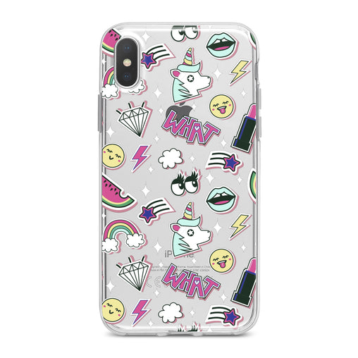 Lex Altern Unicorn Stickers Phone Case for your iPhone & Android phone.