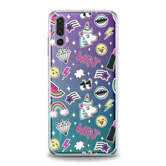 Lex Altern Unicorn Stickers Huawei Honor Case