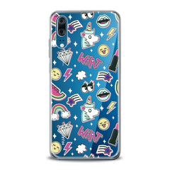 Lex Altern TPU Silicone Huawei Honor Case Unicorn Stickers