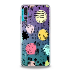 Lex Altern Drawing Unicorn Art Huawei Honor Case
