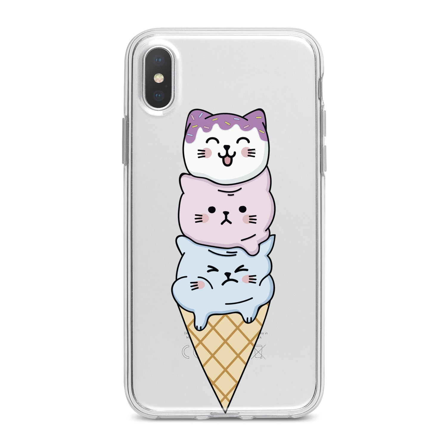 Lex Altern Cat Ice Cream Phone Case for your iPhone & Android phone.