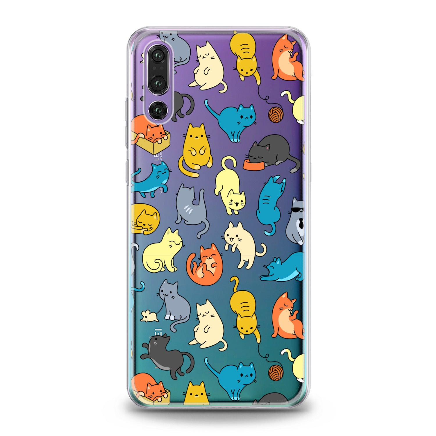 Lex Altern Colorful Cats Huawei Honor Case