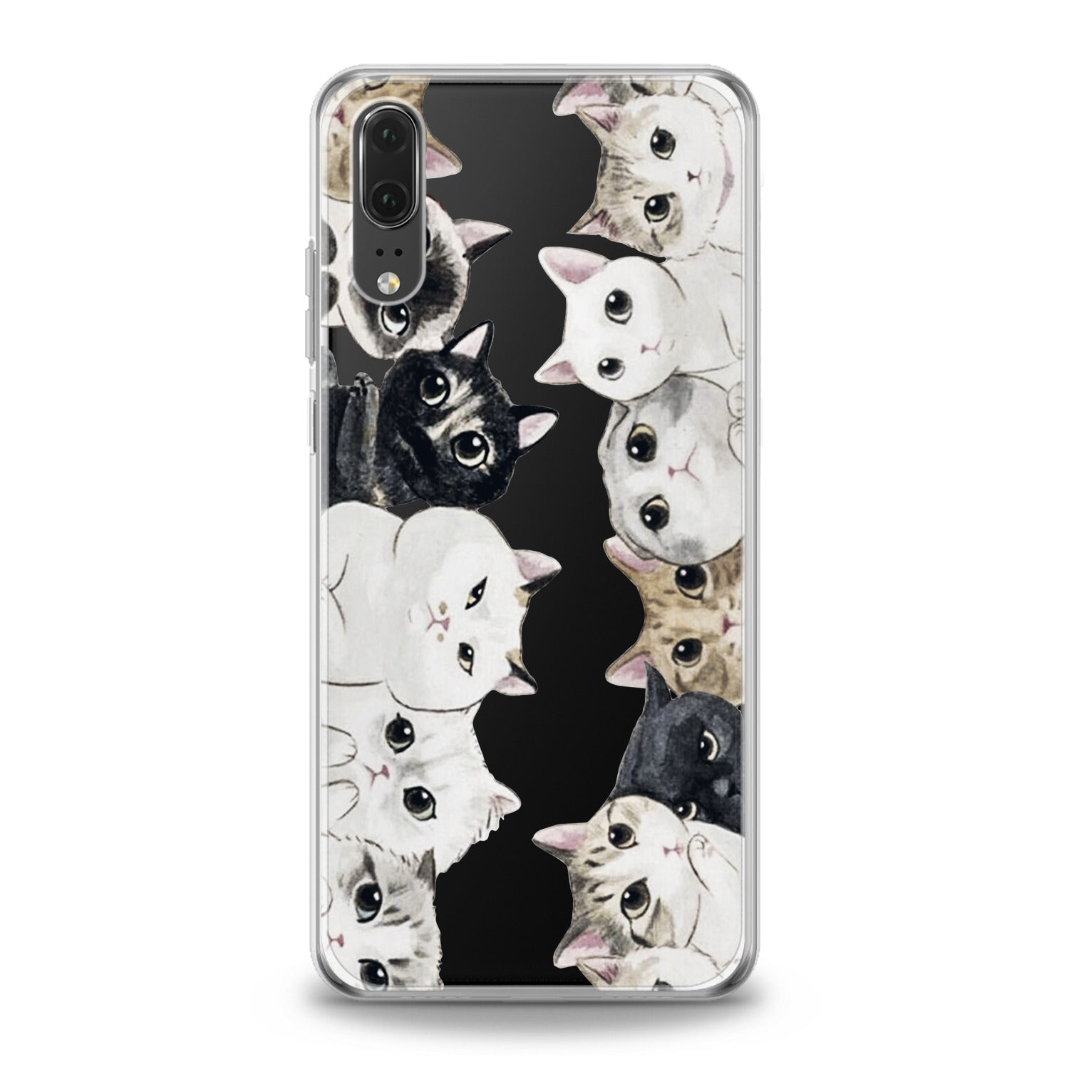 Lex Altern Kawaii Kittens Huawei Honor Case