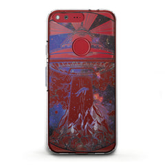Lex Altern TPU Silicone Phone Case Spaceship Print