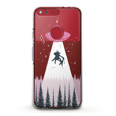 Lex Altern TPU Silicone Phone Case Cute UFO Art