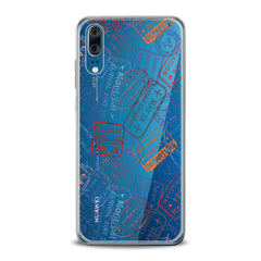 Lex Altern TPU Silicone Huawei Honor Case Travel Pattern
