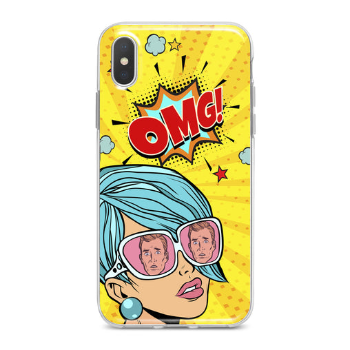 Lex Altern Retro Woman Print Phone Case for your iPhone & Android phone.
