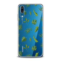 Lex Altern TPU Silicone Huawei Honor Case Green Tropical Leaves Art