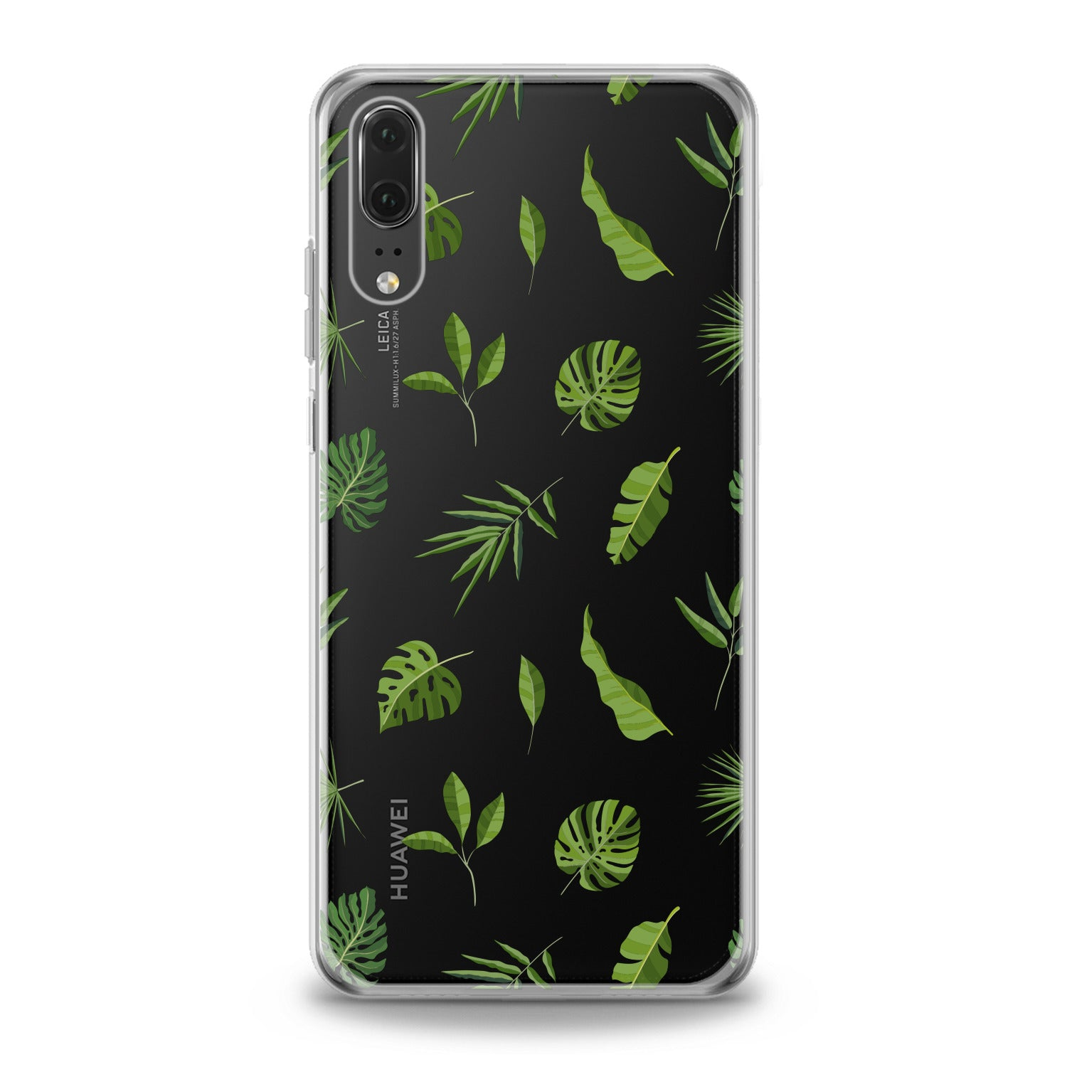 Lex Altern Green Tropical Leaves Art Huawei Honor Case