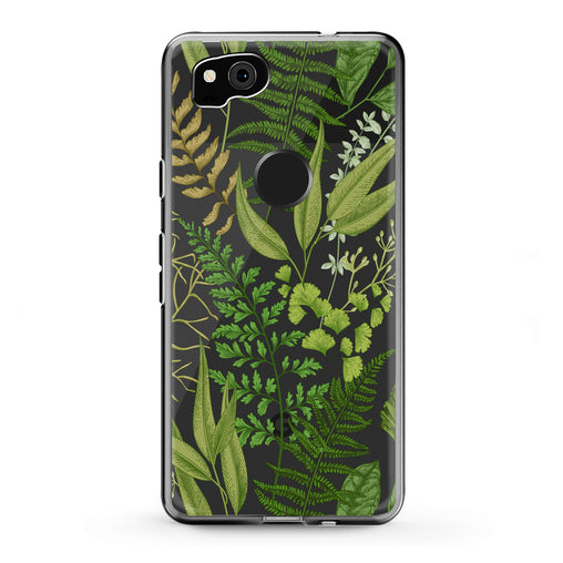 Lex Altern Google Pixel Case Green Fern Leaf