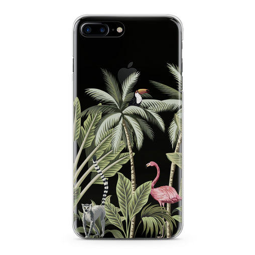 Lex Altern Pink Flamingo Palms Art Phone Case for your iPhone & Android phone.