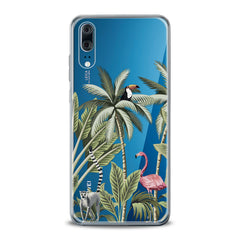 Lex Altern TPU Silicone Huawei Honor Case Pink Flamingo Palms Art
