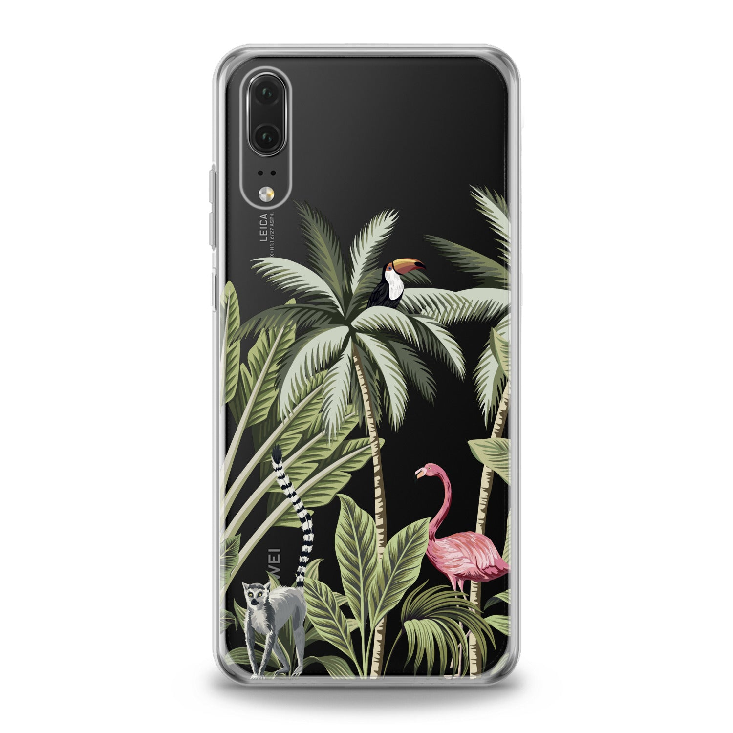 Lex Altern Pink Flamingo Palms Art Huawei Honor Case