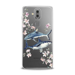 Lex Altern TPU Silicone Phone Case Floral Shark