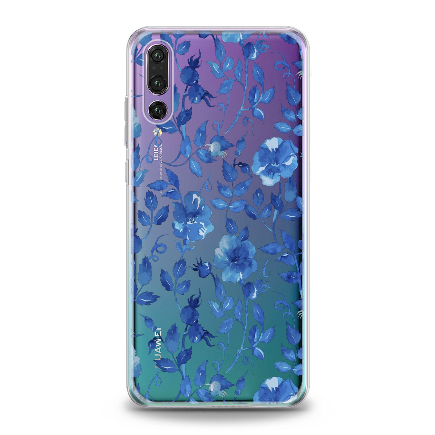 Lex Altern Blue Flowers Blossom Huawei Honor Case