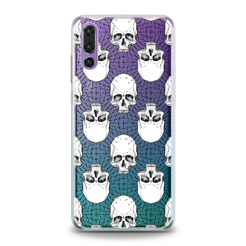 Lex Altern TPU Silicone Huawei Honor Case White Skulls