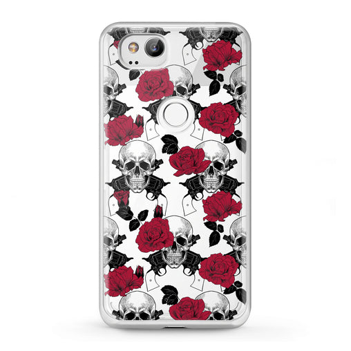 Lex Altern Google Pixel Case Floral Skeleton