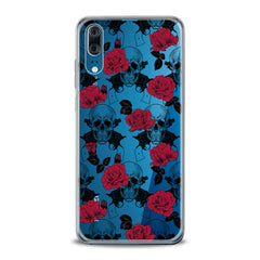 Lex Altern TPU Silicone Huawei Honor Case Floral Skeleton