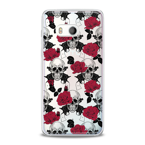 Lex Altern TPU Silicone HTC Case Floral Skeleton