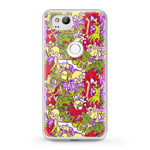 Lex Altern Google Pixel Case Colorful Skulls