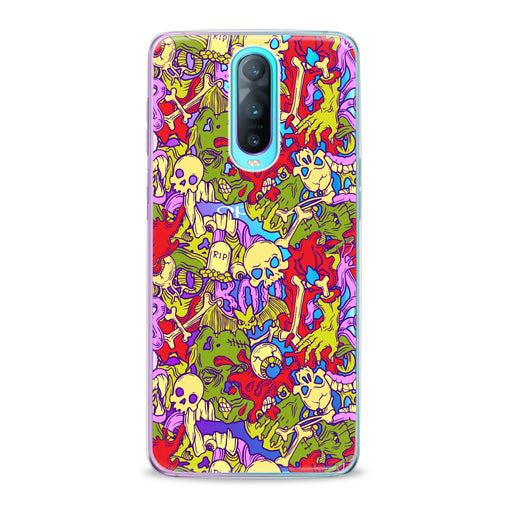 Lex Altern TPU Silicone Oppo Case Colorful Skulls