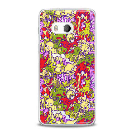 Lex Altern TPU Silicone HTC Case Colorful Skulls