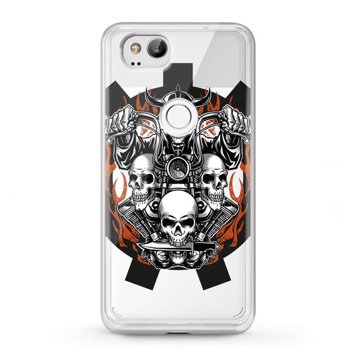 Lex Altern Google Pixel Case Biker Skeleton