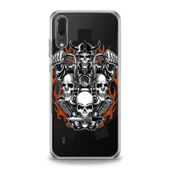 Lex Altern TPU Silicone Huawei Honor Case Biker Skeleton