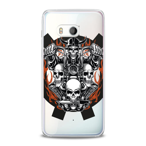 Lex Altern TPU Silicone HTC Case Biker Skeleton
