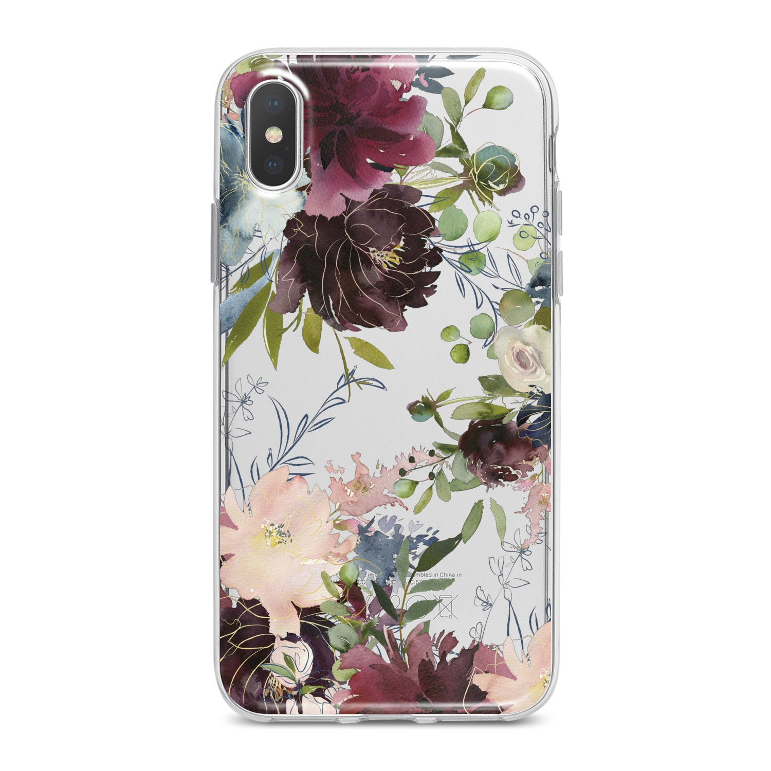 Lex Altern Purple Flowers Phone Case for your iPhone & Android phone.