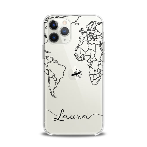Lex Altern TPU Silicone iPhone Case Travel Map