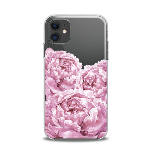Lex Altern TPU Silicone iPhone Case Pink Peonies