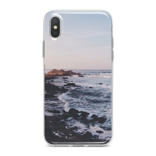 Lex Altern Sunset Sea Waves Phone Case for your iPhone & Android phone.
