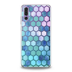 Lex Altern TPU Silicone Huawei Honor Case Blue Honeycomb