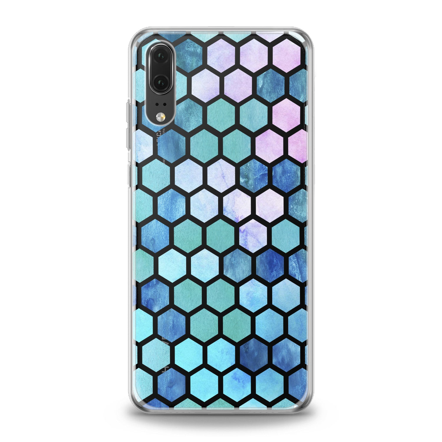 Lex Altern Blue Honeycomb Huawei Honor Case