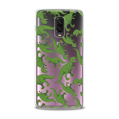 Lex Altern TPU Silicone Phone Case Green Dinosaurs