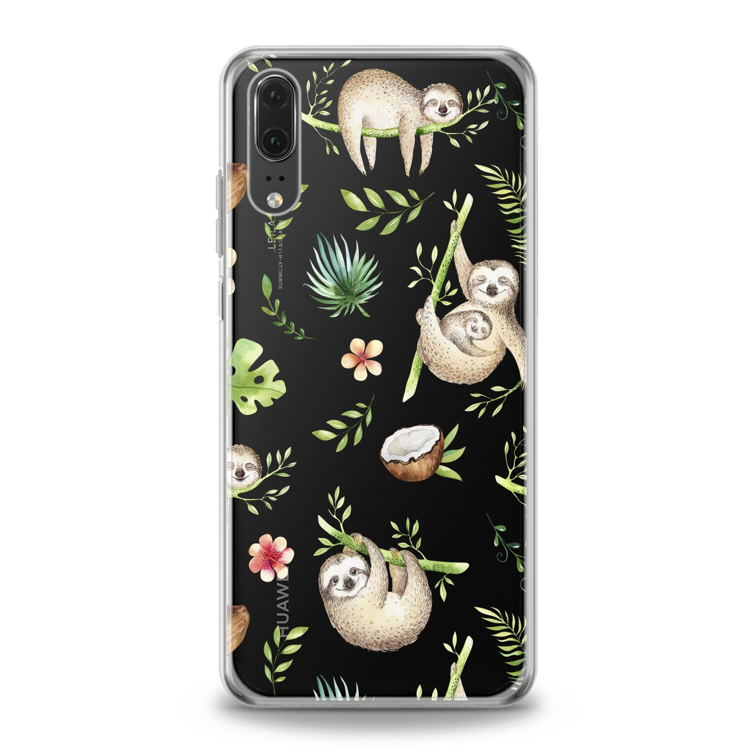 Lex Altern Funny Sloths Huawei Honor Case