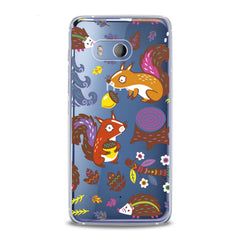 Lex Altern TPU Silicone HTC Case Squirrel Hedgehog Friends