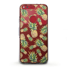 Lex Altern TPU Silicone Phone Case Realistic Pineapple