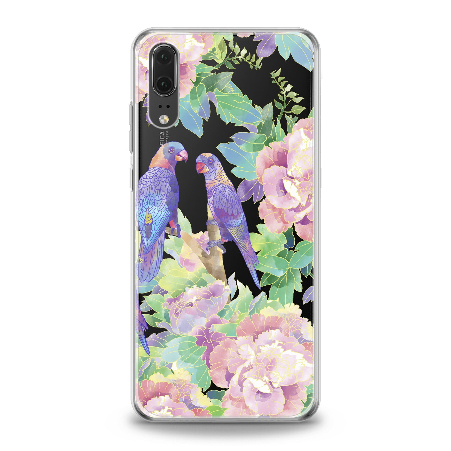 Lex Altern Purple Parrots Huawei Honor Case