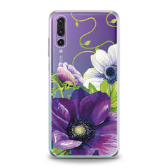 Lex Altern Purple Flower Huawei Honor Case