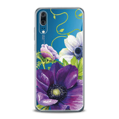 Lex Altern TPU Silicone Huawei Honor Case Purple Flower