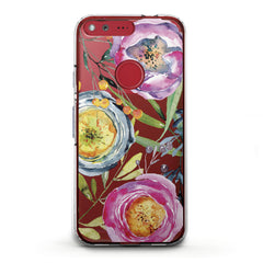 Lex Altern TPU Silicone Phone Case Colorful Tea Rose